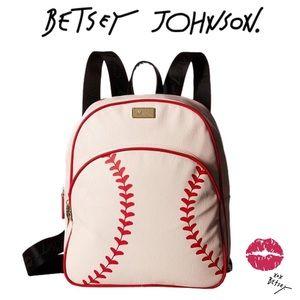 Rare Betsey Johnson LUV Home Run Baseball Backpack